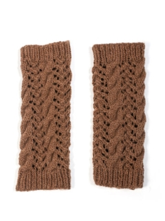 Cable Lace Legwarmers