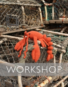 Learn to Crochet: Joanna the Lobster for World Lobster Day Wednesday 25th September (PM)