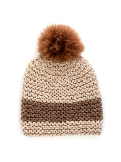 FREE Striped Pom Pom Hat pdf