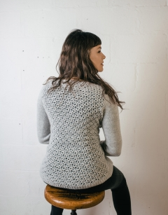 Abergeldie Lace Back Cardigan