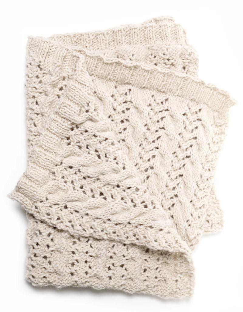 Cable Lace Blanket