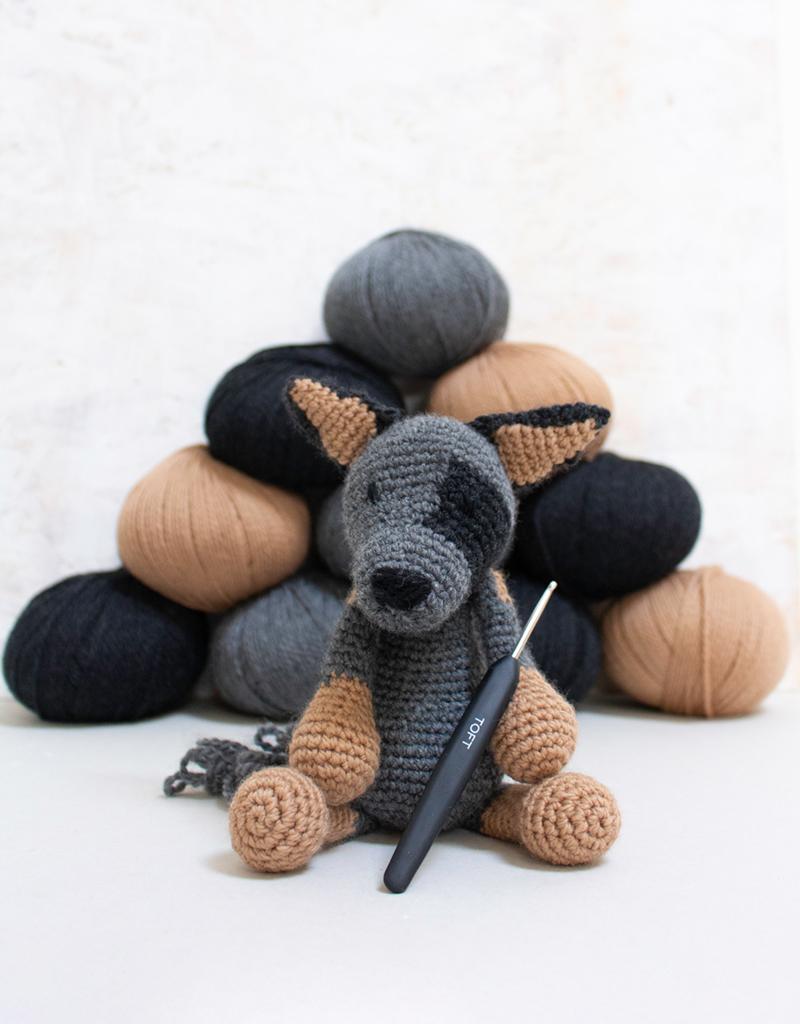 Crochet Australian Cattle Dog Amigurumi Project British Wool Toft