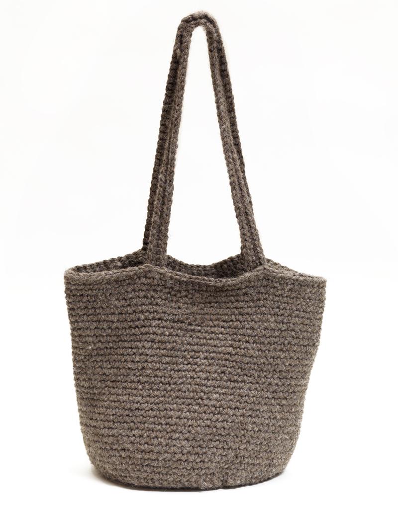Crochet Handbag Kit British Alpaca Wool Crochet Shoulder Bag Pattern
