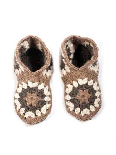 Granny Square Crochet Slippers Pattern In Hexagons