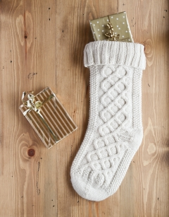 Christmas Cable Stocking