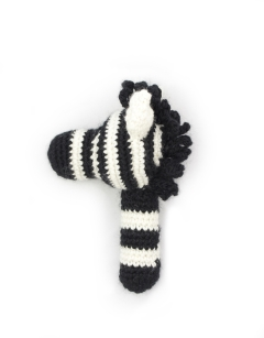Alice the Zebra Rattle