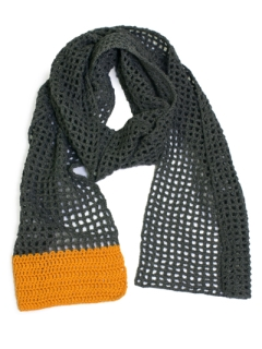 Block-Colour Filet Scarf pdf