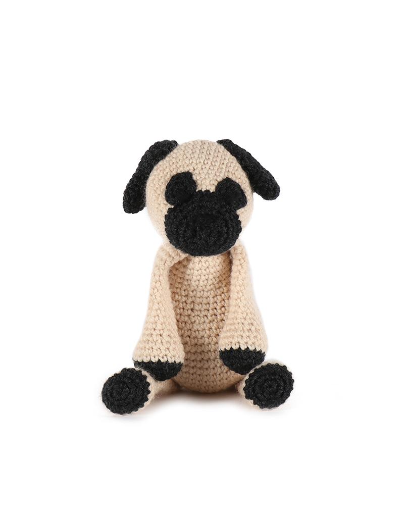 Mini Amigurumi Pug Free Crochet Pattern | móhu | 534x400