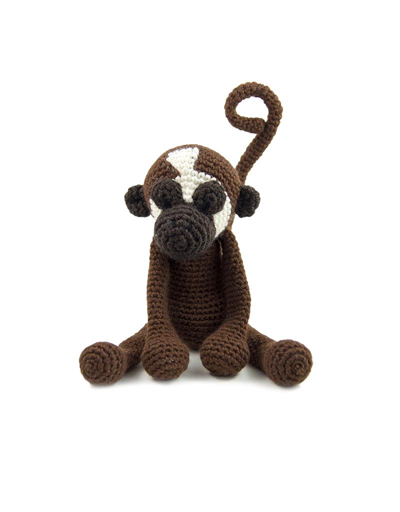 Amazon.com: Plush Monkey, Monkey plush, Crochet animal, Crochet ... | 534x400