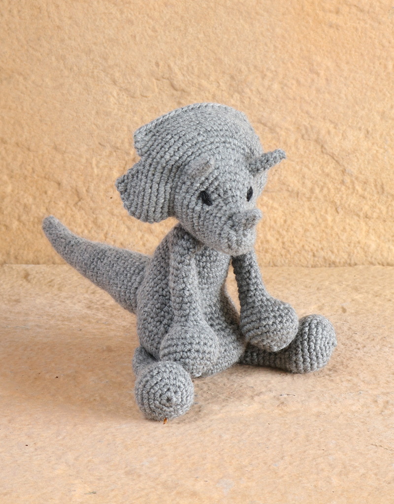 Victoria The Triceratops Crochet Kit Toft