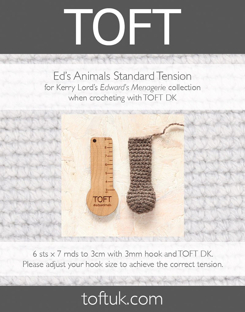 TOFT Ed's Animals Standard Crochet Tension