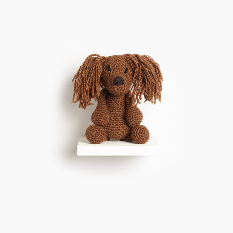 long, haired, dachshund, eds animals, edwards crochet, edwards menagerie, kerry lord