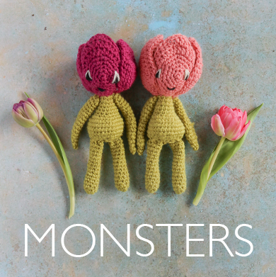 Crochet Monster Kits from TOFT