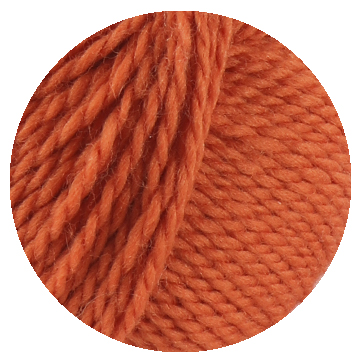 TOFT luxury orange yarn in DK