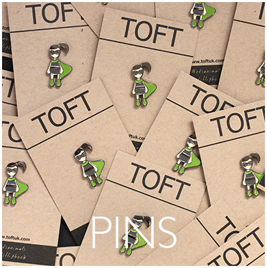 TOFT Collectable Ed's Animals Enamel Pins