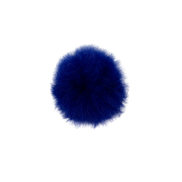 Toft alpaca fur coloured pom pom blue