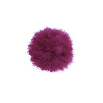 Toft alpaca fur coloured pom pom magenta