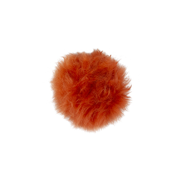 Toft alpaca fur coloured pom pom orange