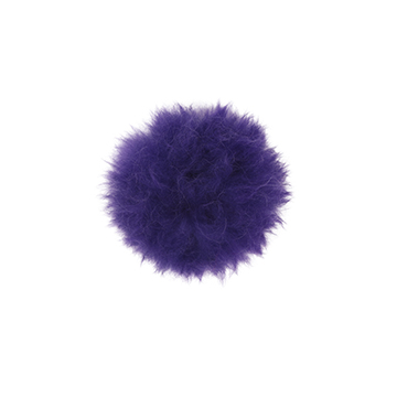 Toft alpaca fur coloured pom pom amethyst