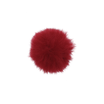 Toft alpaca fur coloured pom pom ruby