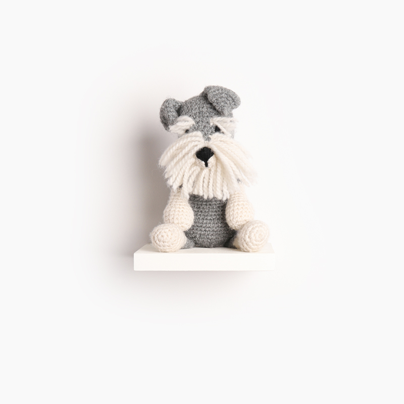 schnauzer dog puppy crochet amigurumi project pattern kerry lord Edward's menagerie