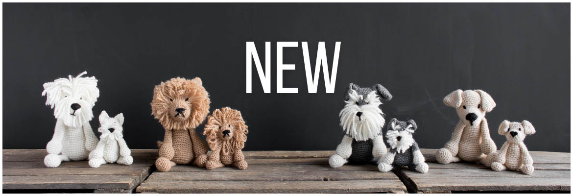 New Edward's Menagerie Amigurumi Crochet Puppy Bundle from TOFT