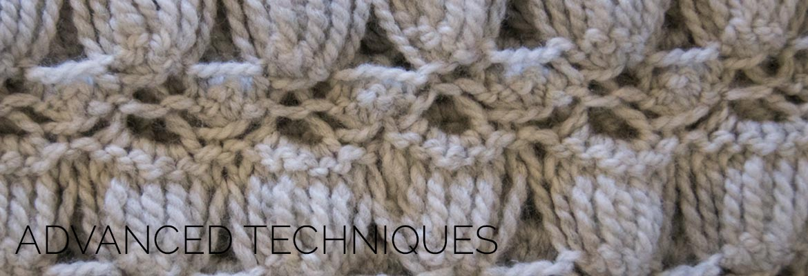 advanced knit and crochet stitch close up