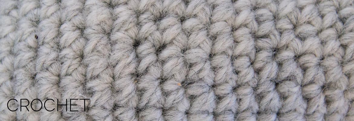 crochet stitch close up
