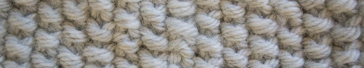 moss stitch close up