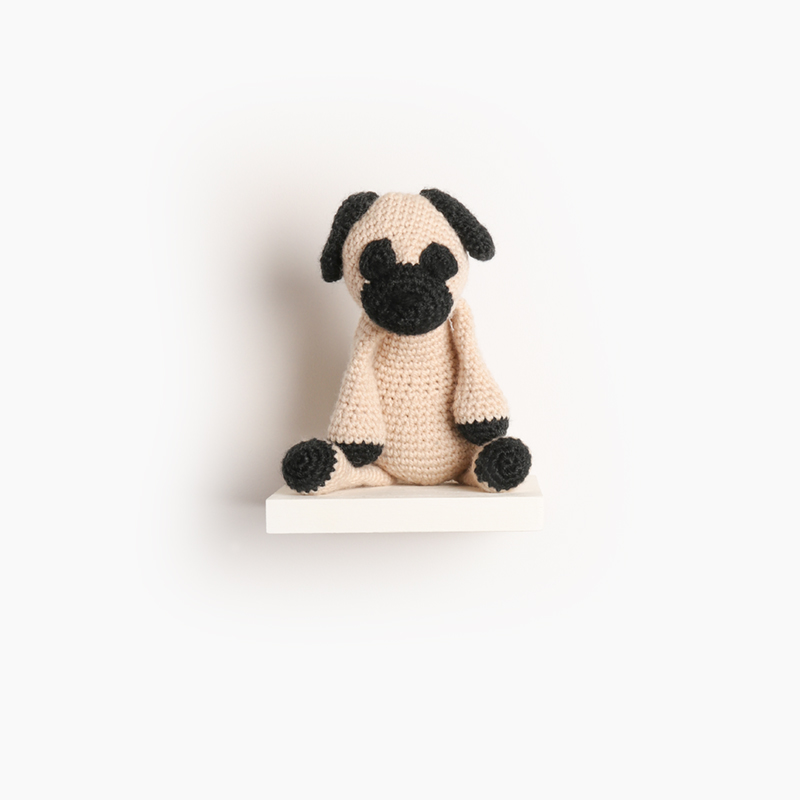 pug dog puppy crochet amigurumi project pattern kerry lord Edward's menagerie