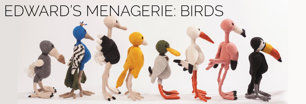 edward's menagerie amigurumi crochet birds