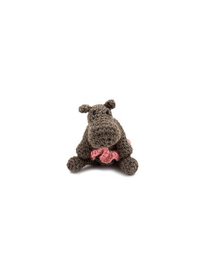 toft ed's animal mini georgina the hippo amigurumi crochet