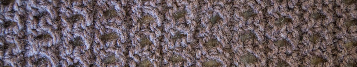 eyelet stitch close up
